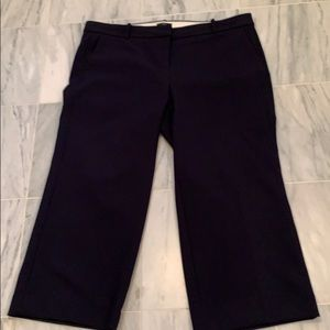 J Crew Navy Cropped Wide Leg 365 suiting pants 18